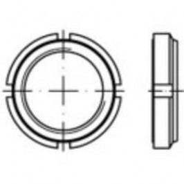 Hřídelové matice TOOLCRAFT 149931, M25, 5 mm, ocel, 10 ks