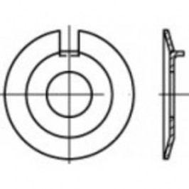 Podložka plochá s vnejším nosem TOOLCRAFT 106667, vnitřní Ø: 13 mm, ocel, 50 ks