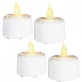 LED čajová svíčka Grundig 06178, sada 4 ks, bílá