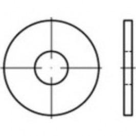 Podložka plochá TOOLCRAFT 146465, vnitřní Ø: 26 mm, ocel, 100 ks