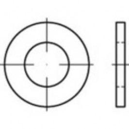 Podložka plochá TOOLCRAFT 147829, vnitřní Ø: 4.3 mm, ocel, 200 ks
