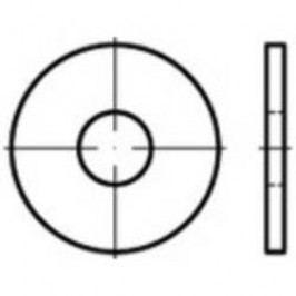 Podložka plochá TOOLCRAFT 147996, vnitřní Ø: 39 mm, ocel, 25 ks