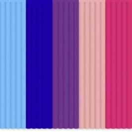 Sada vláken pro 3D tiskové pera 3Doodler PL-MIX9, PLA plast, 55 g, světle modrá, královská modrá, purpurová, růžová