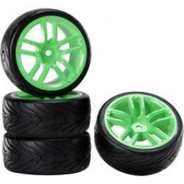 Kompletní kola Reely GTGn + Devil pro silniční model, 52 mm, 1:10, 4 ks, neonově zelená