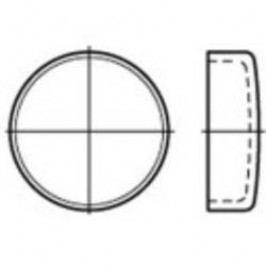 Uzavírací víčko TOOLCRAFT 107073, DIN 443, (Ø) 18 mm, Ocel, 100 ks