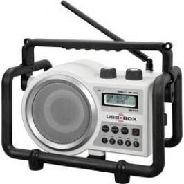 FM outdoorové rádio PerfectPro USB Box 2, AUX, SD, FM, USB, bílá