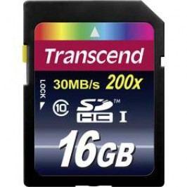 Paměťová karta SDHC 16 GB Transcend Premium Class 10