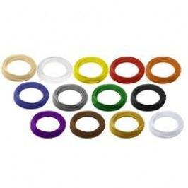 Sada vláken pro 3D tiskárny Renkforce 01.04.00.0201, ABS plast, 2.85 mm, 650 g, přírodní, černá, bílá, červená, žlutá, modrá, zelená, oranžová, šedá, purpurová, hnědá, zlatá, stříbrná