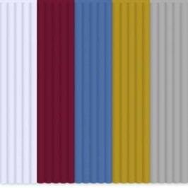 Sada vláken pro 3D tiskové pera 3Doodler PL-MIX4, PLA plast, 2.85 mm, 55 g, bílá, červená, modrá, zlatá, stříbrná