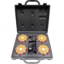 LED výstražné blikající světlo do auta Profi Power Long Run, 12 V, 24 V, 230 V, oranžová, 1 sada 4 ks