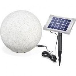 LED solární dekorativní osvětlení – kámen Esotec Mega Stone 30, IP65, šedá