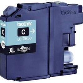Brother inkoustová kazeta LC-125XLC originál azurová LC125XLC