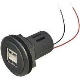 Vestavná USB zásuvka ProCar, 67312501, 2x USB, 12 V ⇔ 5 V/24 V ⇔ 5 V, 5000 mA