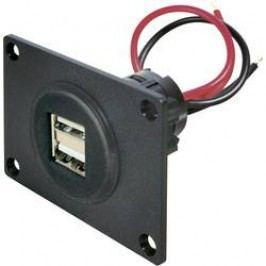 Vestavná USB zásuvka ProCar, 67322501, 2x USB, 12 V ⇔ 5 V/24 V ⇔ 5 V, 5000 mA