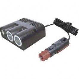 Rozbočovač s USB do autozásuvky ProCar, 67325501, 2x USB, 12/24 V, 16 A, dvojitý