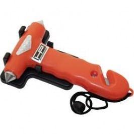 Nouzové kladivo s pásovým nožem do auta HP Autozubehör, 10660, červená