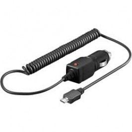 Nabíjecí kabel do autozásuvky Goobay, 46555, microUSB, 12/24 V, 1000 mA