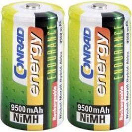 Akumulátor velké mono D Ni-MH Conrad energy Endurance HR20, 9500 mAh, 1.2 V 2 ks