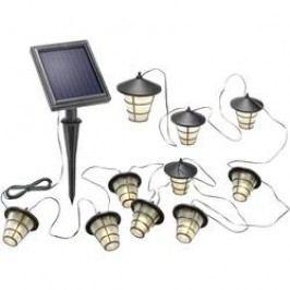 Venkovní LED solární světelný řetěz Esotec 102152 s 10 lucernami, teplá bílá, 6 m