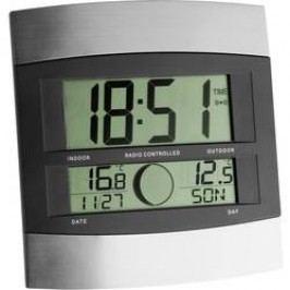 DCF nástěnné hodiny TFA 98.1006 98.1006, stříbrná