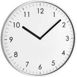 Quartz nástěnné hodiny TFA Wanduhr 60.3026.54, Vnější Ø 25.5 cm, stříbrná