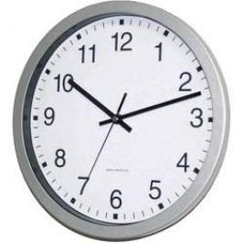DCF nástěnné hodiny EuroTime 56831-07, (Ø x h) 30 cm x 4,3 cm, stříbrná