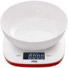 Kuchyňská váha ADE KE 1412 Amelie, digitální, s odměrnou mísou, max. váživost 5 kg, bíločervená