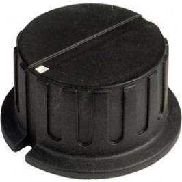Otočný knoflík s ukazatelem SCI PN-38A(6.4mm), (Ø x v) 34.8 mm x 18 mm, s ukazatelem černá, 1 ks