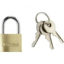 Visací zámek na klíč Basetech 1362630, 19.7 mm, mosaz