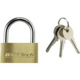 Visací zámek na klíč Basetech 1362992, 39.8 mm, mosaz