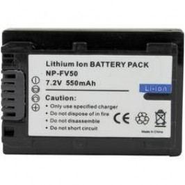 Náhradní baterie pro kamery Conrad Energy NP-FV50, 7,2 V, 550 mAh