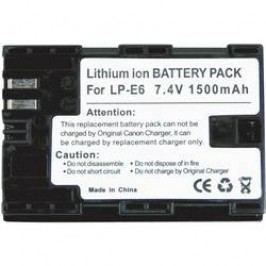 Náhradní baterie pro kamery Conrad Energy LP-E6, 7,4 V, 1300 mAh