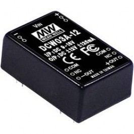 DC/DC měnič MeanWell DCW03C-12, +/-12 V/DC 125 mA, 3 W