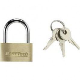 Visací zámek na klíč Basetech 1363031, 29.8 mm, mosaz