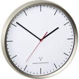 DCF nástěnné hodiny TFA 60.3521.02, vnější Ø 30.5 cm, nerezová ocel kartáčovaná