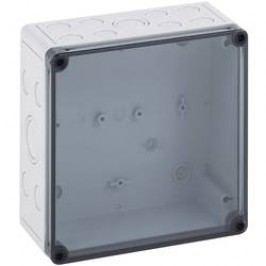 Instalační krabička Spelsberg TK PS 1818-6f-tm, (d x š x v) 182 x 180 x 63 mm, polykarbonát, polystyren (EPS), šedá, 1 ks