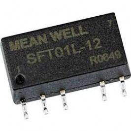 DC/DC měnič napětí, SMD Mean Well SFT01M-05, 12 V/DC, 5 V/DC, 200 mA, 1 W, Počet výstupů 1 x