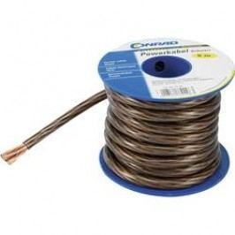 Zemnicí kabel Conrad Components 1 x 4 mm², vnější Ø 5 mm, černá, 5 m