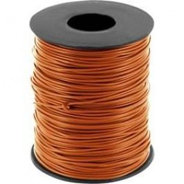Spojovací drát BELI-BECO 1 x 0.20 mm², vnější Ø 0.50 mm, hnědá, 100 m