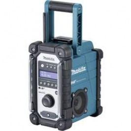 DAB+ outdoorové rádio Makita DMR110, DAB+, FM, AUX, voděodolné, černá, tyrkysová