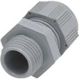 Kabelová průchodka Helukabel HT 93927, polyamid, délka závitu 10 mm, stříbrnošedá (RAL 7001), 1 ks