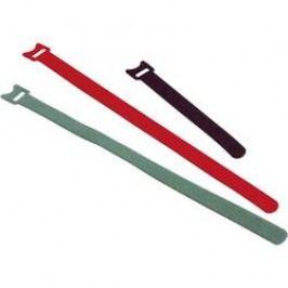 Stahovací páska na suchý zip Fastech 260 x 13 mm, červená