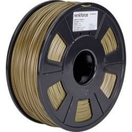 Vlákno pro 3D tiskárny Renkforce 01.04.12.1116, ABS plast, 1.75 mm, 1 kg, zlatá