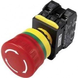 Nouzový vypínač s kontaktním prvkem DECA A20L-V4E11Q7R, 240 V/AC, 6 A