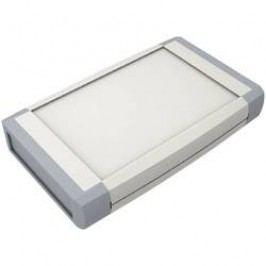 Plastová krabička Axxatronic CHH641NGY, 100 x 80 x 20 mm, ABS, světle šedá, 1 ks