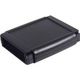 Plastová krabička Axxatronic CHH644BBK, 120 x 80 x 30 mm, ABS, černá, 1 ks