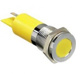 LED signálka APEM Q14F1CXXB12E, IP67, 12 V/DC, modrá