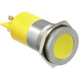 LED signálka APEM Q22F1CXXY220E, IP67, 220 V/AC, žlutá