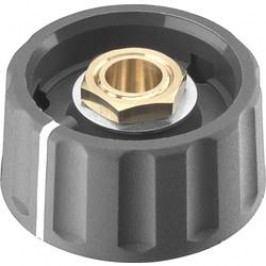 Otočný knoflík s ukazatelem, s kleštinou Ritel 67 28 76 2, (Ø x v) 28 mm x 13.8 mm, šedá, 1 ks