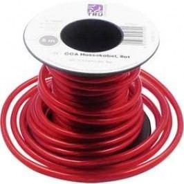 Zemnicí kabel TRU COMPONENTS 1 x 2.50 mm², vnější Ø 4.20 mm, červená, 5 m